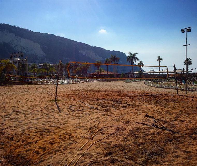 Beach volleyball 🏐 lebanon chekka beirut lebanesebucketlisters beach... (Chekka)