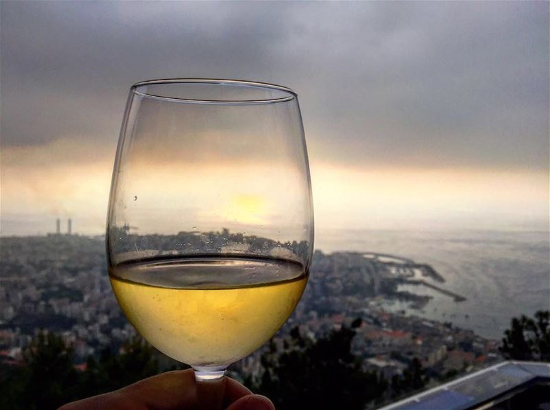 Enjoy a drink with the most beautiful sunset view over beirut ... (Bay Lodge)