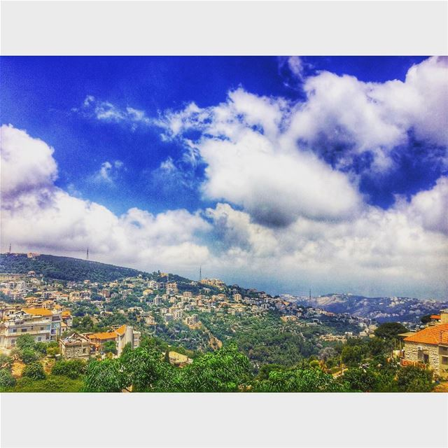 My beautiful village💙🌞  amazing  amazingview  livelovebeitchabab ... (Beït Chabâb, Mont-Liban, Lebanon)
