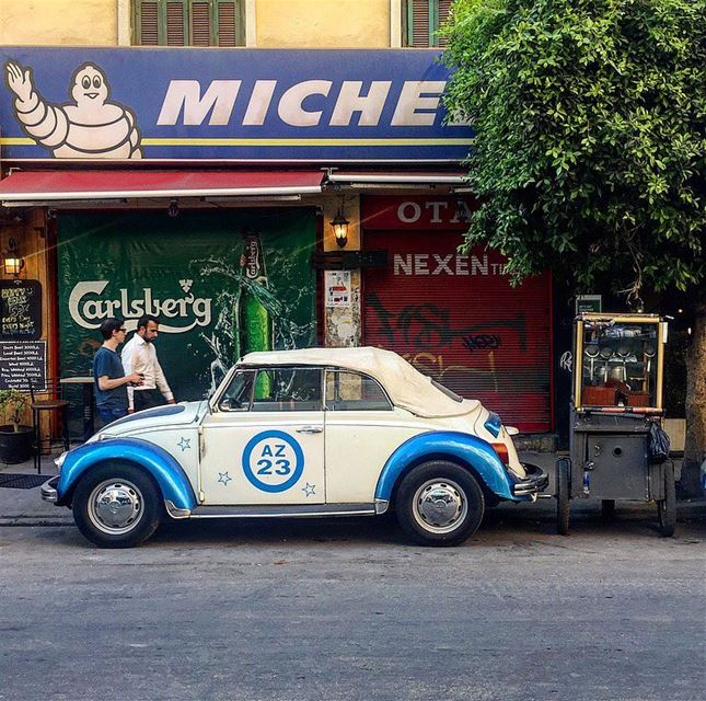 Hello Gorgeous 🦋🦋 ....... vwbeetle vwlover vwrocks vw ... (Mar Mikhael-Armenia The Street)