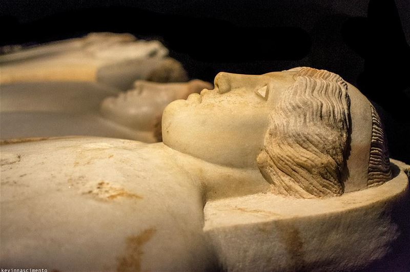 Close-up of sarcophagi ••••• iglebanon lebanon_ig lebanonshots ... (National Museum of Beirut)