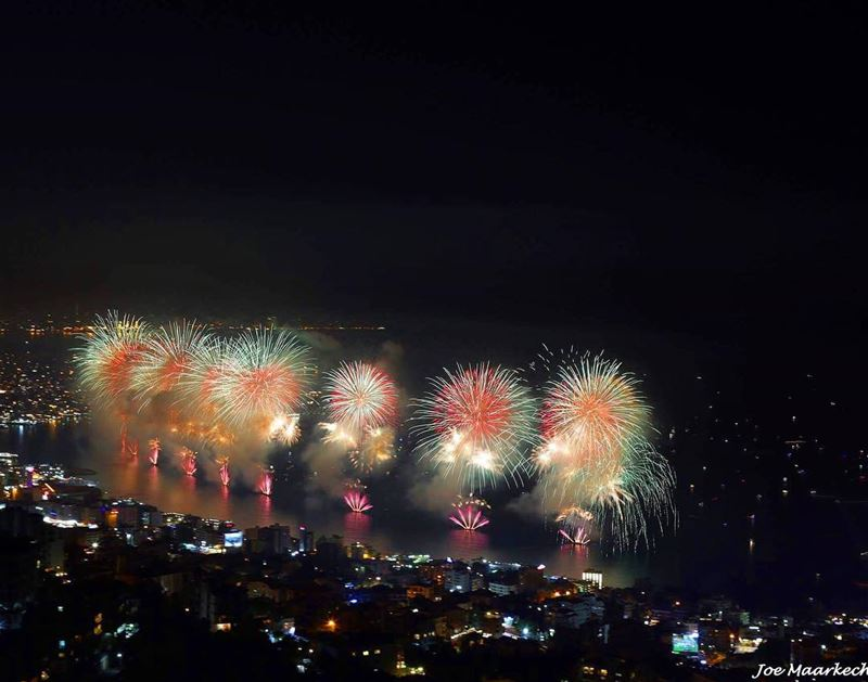 About last night! Jounieh festival...  jounieh  livelovejounieh  fireworks...