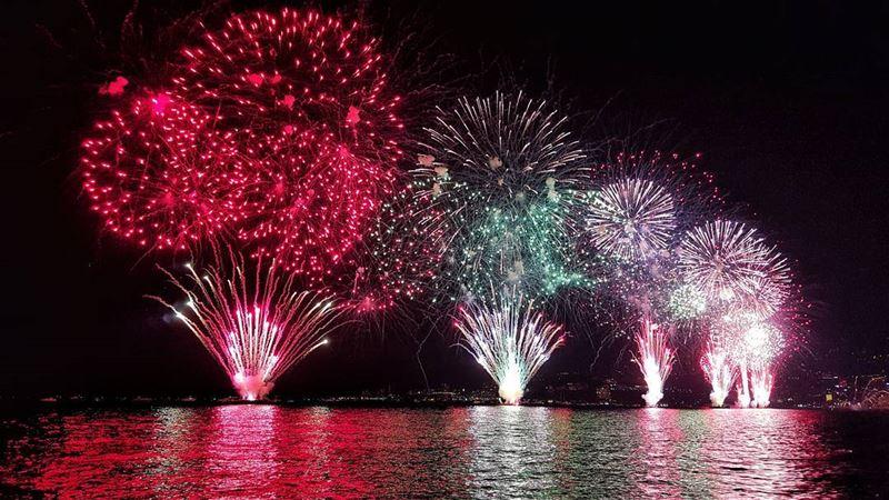 Jounieh was literally Lit🔥🎆 Fireworks jounieh Lebanon hdr ... (Jounieh Summer Festival)