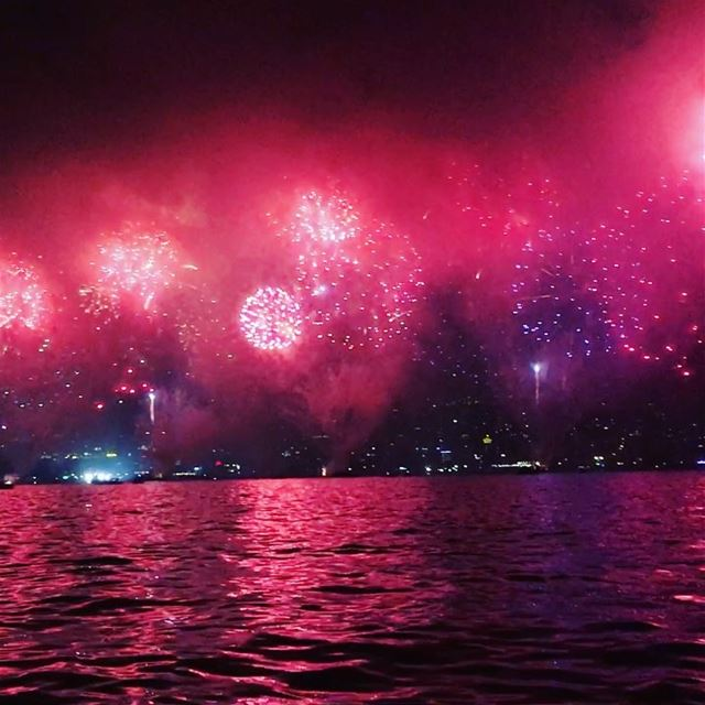 Sparks fly like the 4th of July 🎉🎇🎆 jounieh jouniehbay fireworks ... (Jounieh Summer Festival)