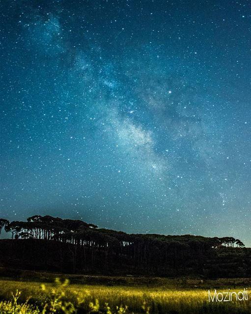 sky stars planet earth galaxy star ptk_sky beautifulplaces... (Kfar Hoûné, Al Janub, Lebanon)