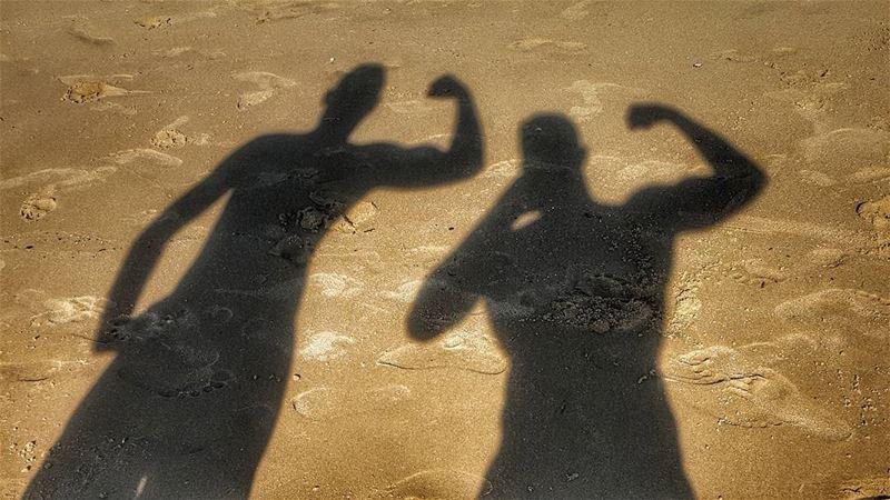 sand lebanonsea lebanon_hdr bodybuilding shades me pic picoftheday... (Beach 45)