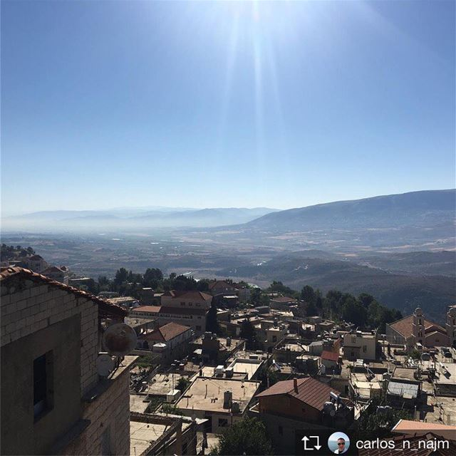Repost from @carlos_n_najm Waking up to this view 😍😎☀️☀️ ... (Saghbîne, Béqaa, Lebanon)
