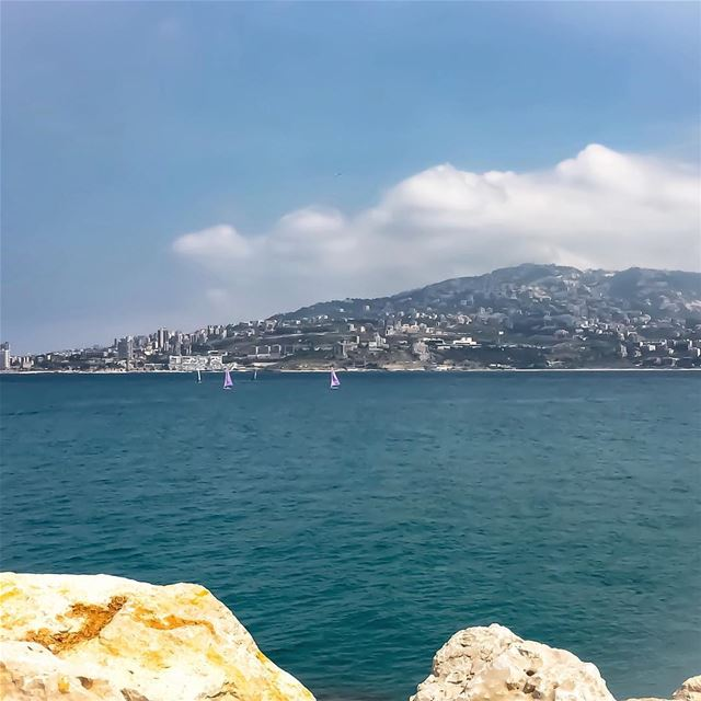 Summer's here blue sea sky seascape landscape boat hd_lebanon ...