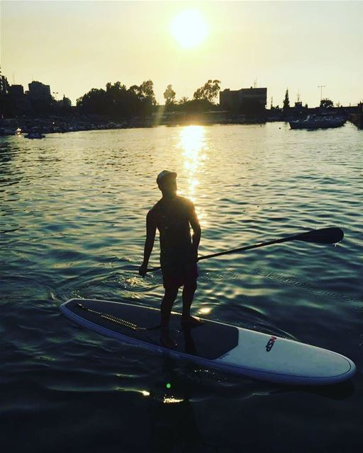 Another beautiful Sunset ... .. gopro  sport  sup  healthy  surf  paddle... (Surf Shack Lebanon)