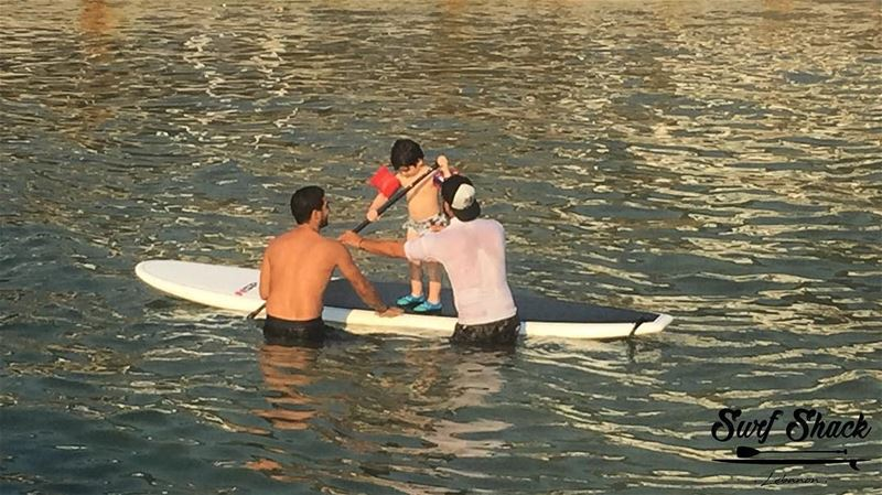 "Start them young...like reeeaaall young 😄 adorbs We enjoyed ""trying"" to... (Surf Shack Lebanon)"