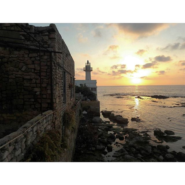 mediterranean sunset sea landscape lighthouse alfanar tyre south ... (Al-Fanar restaurant and auberge)