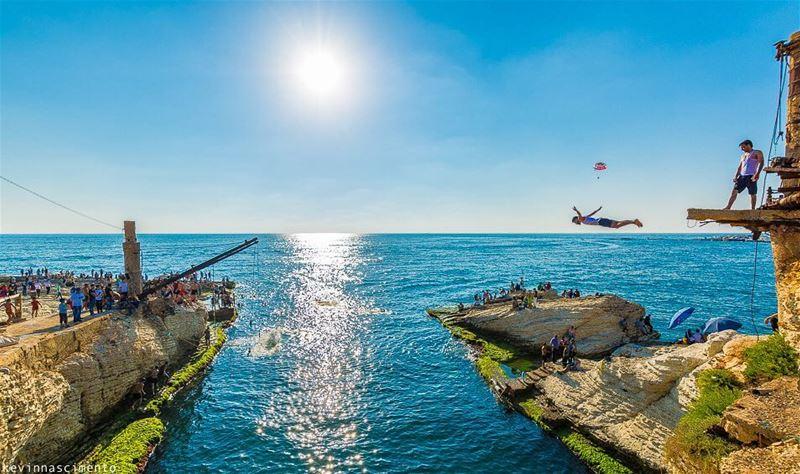 For a moment, it felt like he was flying. ••••• iglebanon lebanon_ig... (Beirut, Lebanon)
