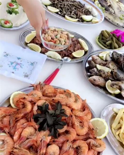Our tasty seafood lunch @Paraliabar @Tahetelrih in Anfeh Al-Koura - North...
