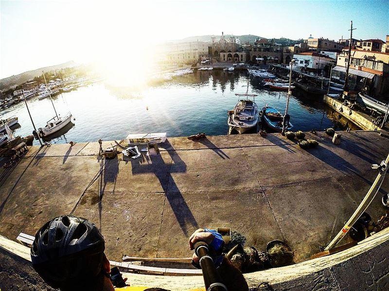 Good Morning Sun ☀🌞☀.... Lebanon trek moutainbikingislife ... (Mina-batroun)