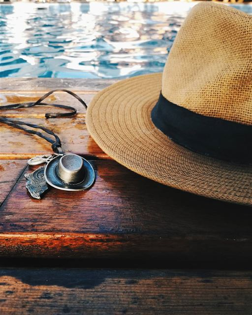 Morning Fresh 🕶️🌞 swimming Pool Details necklace hat ... (Damour, Lebanon)