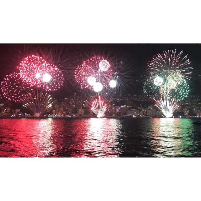 jounieh bay jouniehbay fireworks lebanon🇱🇧 festival sea sky ... (Jounieh Libanon)