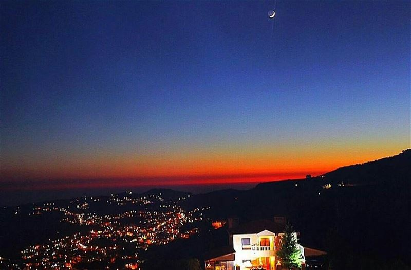 Goodnight Lebanon💙 From Faraya by @nancybaradi 😍💙😍💙😍💙😍💙 ...