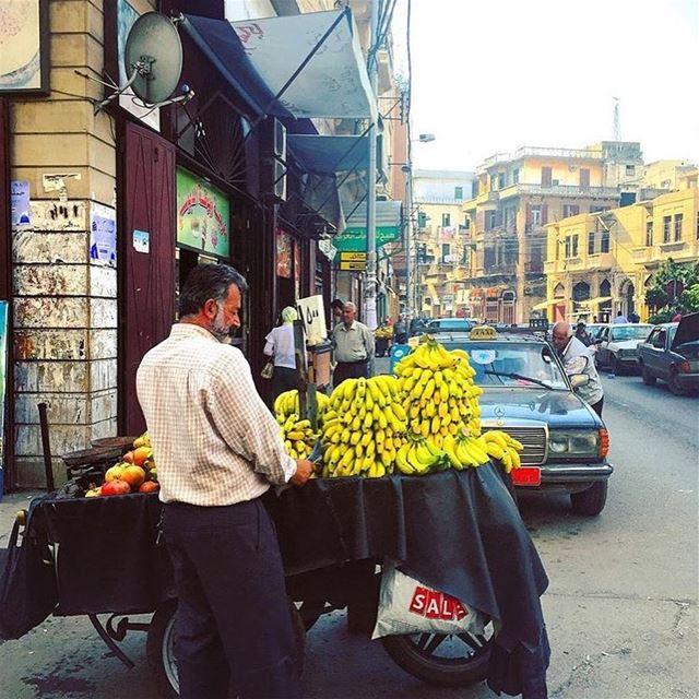 To market to market to buy me a banana 🍌... (Tripoli, Lebanon)