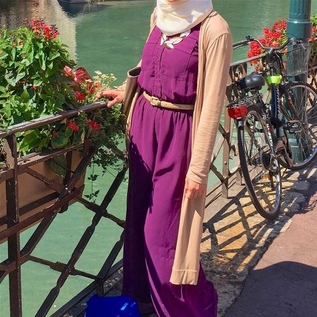Eid Mubarak everyone 💛......... bawal hijabi fashion ... (Annecy)