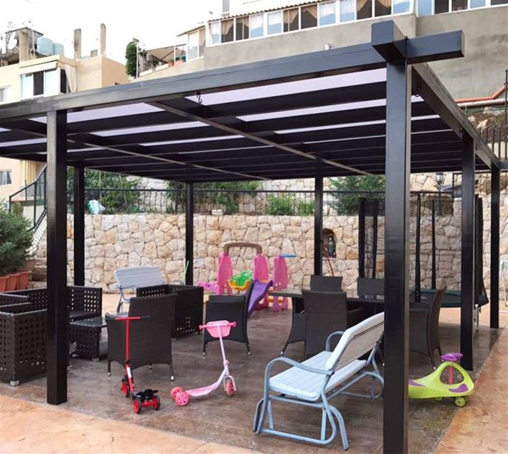 Best way for a safe playground;Cover it with Polycarbonate - Gives you... (`Awkar, Mont-Liban, Lebanon)