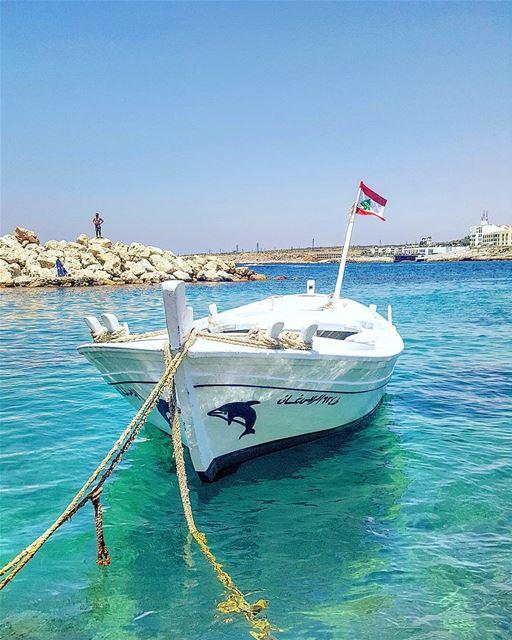 ⛵🇱🇧 mycountrylebanon Lebanon insta_lebanon sky blue green ... (Ta7t El Ri7 - Anfeh)