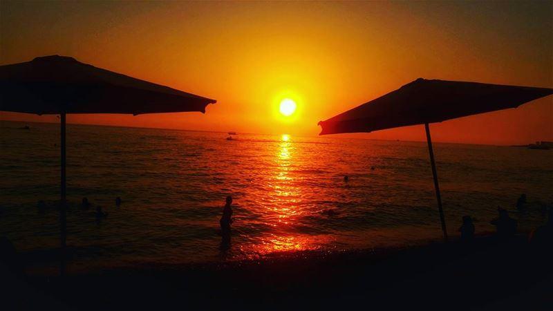 sunsets sunset sun lebanon_hdr jbeil sea🌊 lebanonsea sea ... (جبيل المينا)