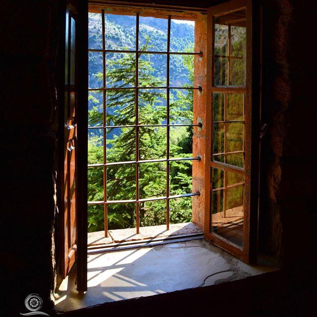 RoyALKhouryPhotography mountain window cedar lebanon beautiful view... (Mar Lichaa)