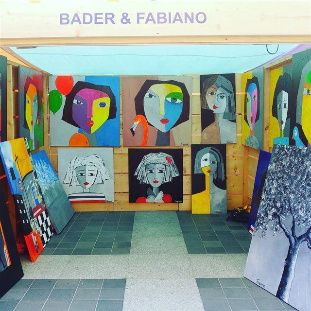 @fabiano_leone art work exposition at beirutsouks. Congrats... (Beirut Souks)