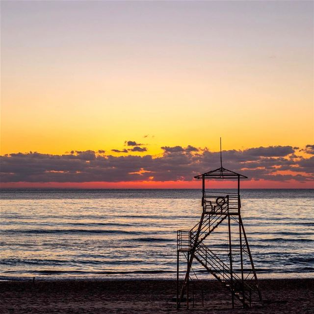 sunset beirut beach landscape nature lebanon_hdr lebanonspotlights l4l... (Ramlet Al Bayda Public Beach)
