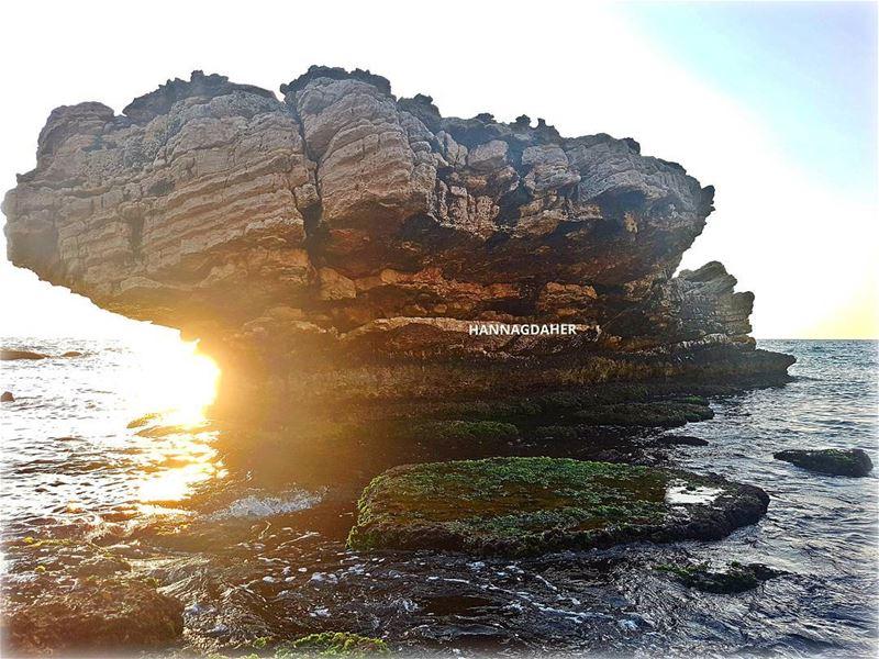 sunsets sunset rock sea lebanon northlebanon kfarabida ... (Kfar Abida)