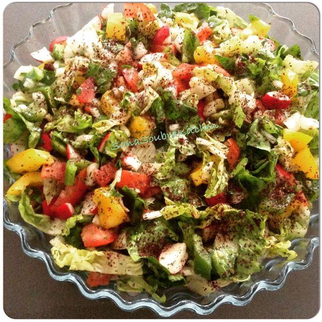 Fattoush fattoush salad vegetables foodbloggersworlwide foodbloggers...