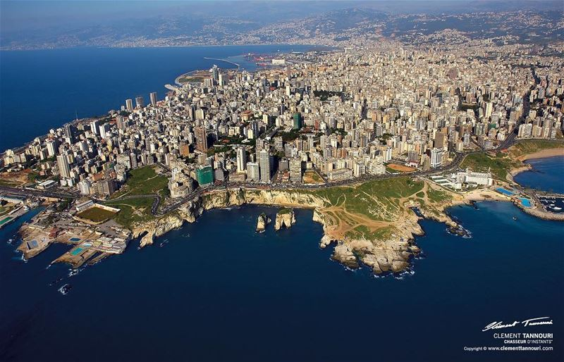 Beirut from above☀️🚁 livelovelebanon livelovebeirut lebanon beirut ... (Beirut, Lebanon)