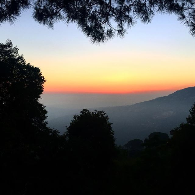 nature sunset view mountain village valley heart city town ... (Abadiyeh, Lebanon)