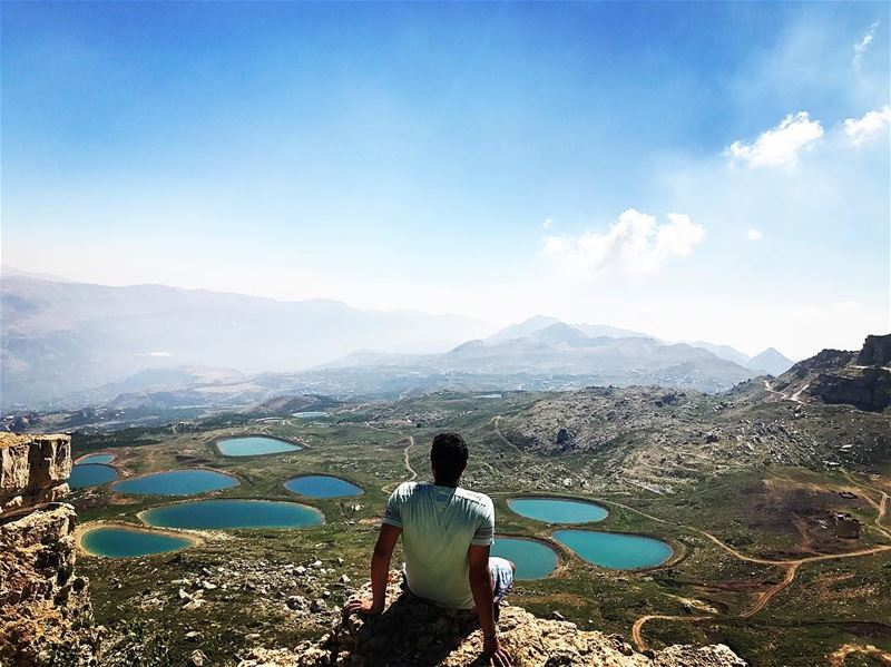 These lakes remind me of my tears 💦 joke ineverCry unlessImHungry ... (Akoura, Mont-Liban, Lebanon)