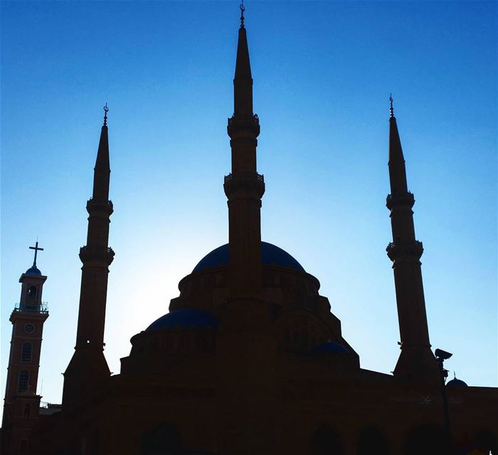 Harmony through architecture. Mosque architecture buildings lebanon ... (Beirut, Lebanon)