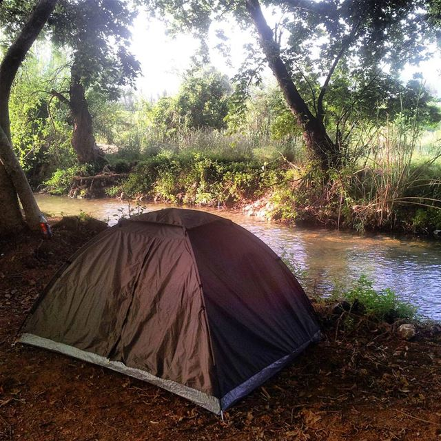 Life is simple when u take it easy camping mountain nature river ...