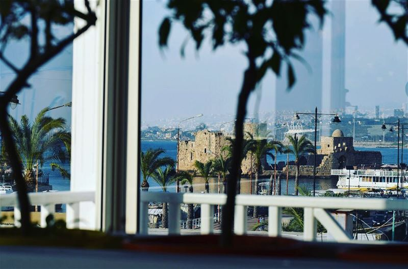 Tawlet Saida looks out on the old port and the Sea Castle. A beautiful...