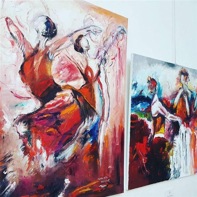 unesco exibitionist beirut lebaneseartist painting dancers ...