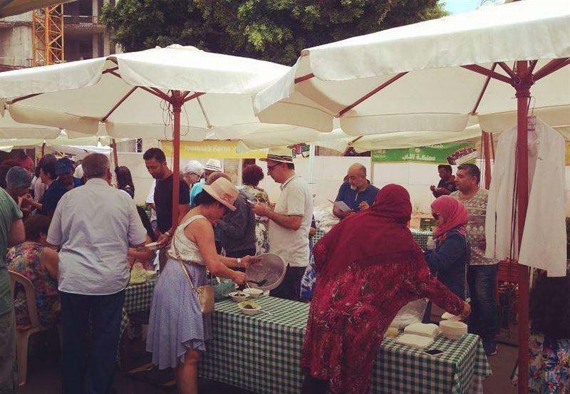 Tabbouleh in the making at Souk el Tayeb ... tabboulehday tabbouleh ...