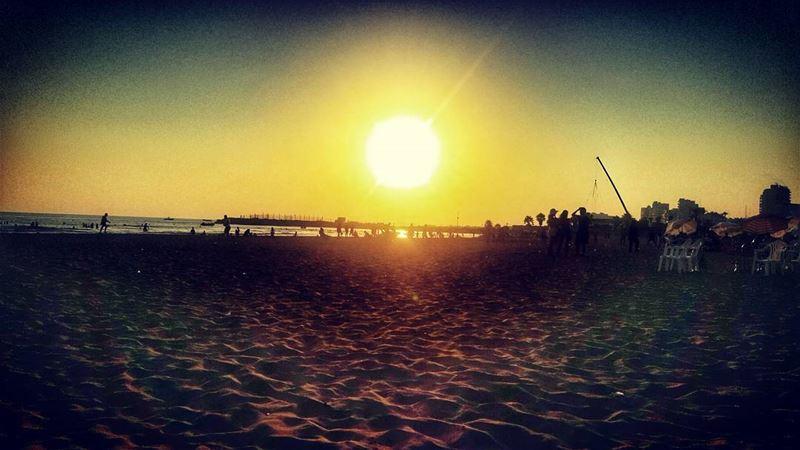 lebanonsea lebanon_hdr sour goodweather sunsets sun sea🌊 ... (Soûr, Al Janub, Lebanon)