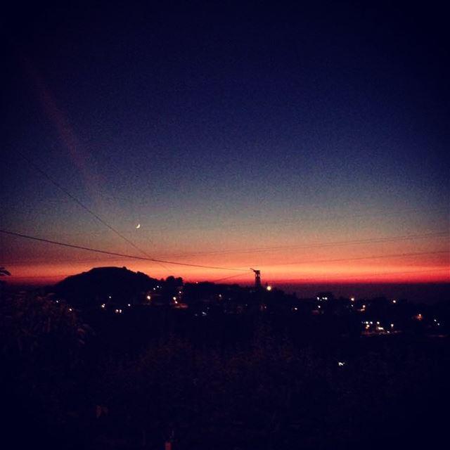 Sunset 🌅 Onlyfiliban lebanon mountlebanon beautiful sky liban ... (Mount Lebanon)