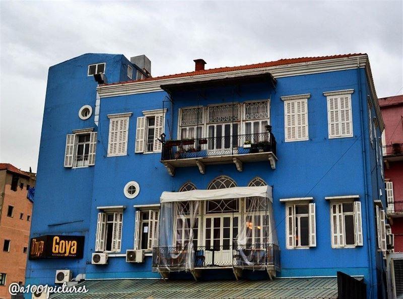 The blue house.. ........ travelphotography photos nikon tb ... (Beirut, Lebanon)