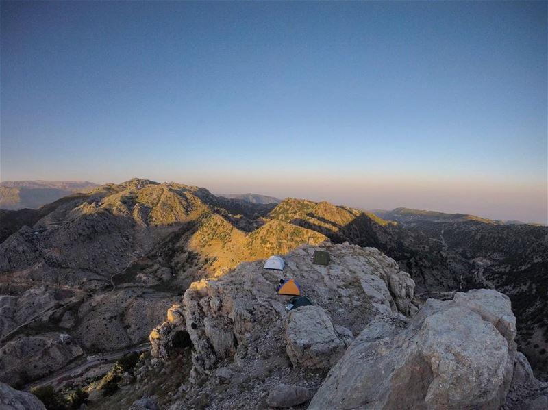 camping on the top of hafroun mountain 🇱🇧⛰💪 lebanon lebanon_hd ... (Qornet Hafroûn)