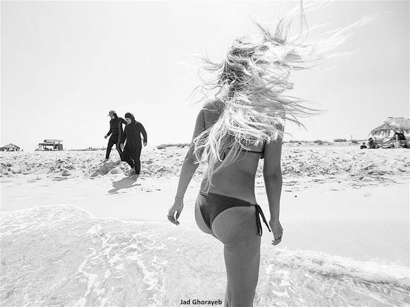 ~ Bikini / Burkini (📸 2016) ~... bw bnw bnw_captures bnwmood ... (Tripoli, Lebanon)