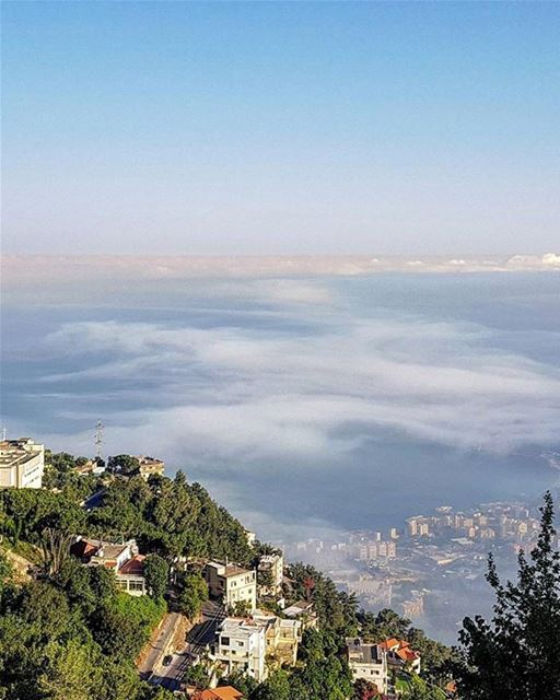 Morning from Ghosta - Harissaصباح الخير من غوسطا - كسروانPhoto taken by @ (Ghosta, Mont-Liban, Lebanon)