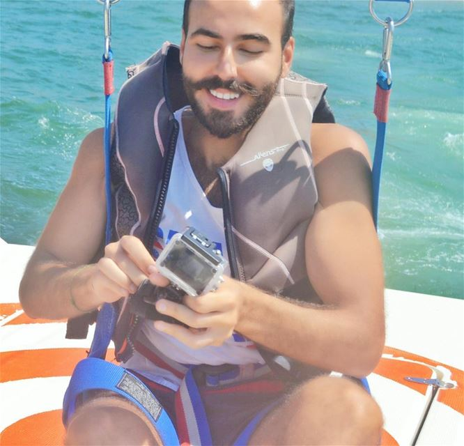 happiness 😇❤🎈 parasailing lebanon sea ...