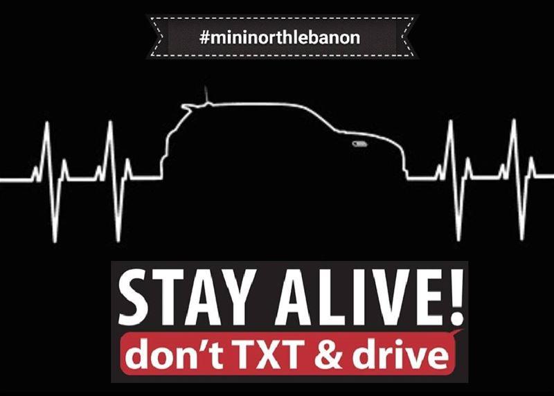 mininorthlebanon Don't Text & Drive Campaign saftyfirst @wearelebanon @s (Lebanon)