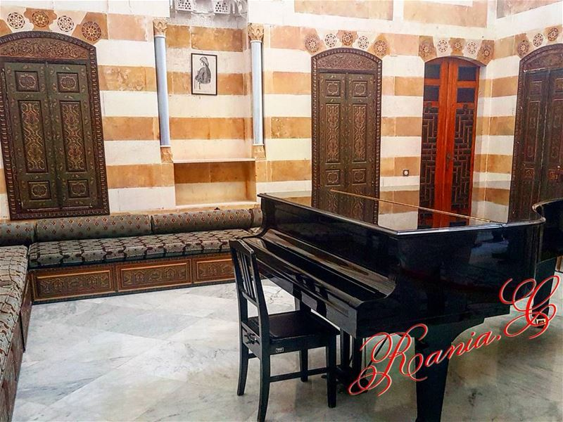 beiteddine beiteddinepalace politicsandmusic piano lebanesepresidency... (Beiteddine Palace)