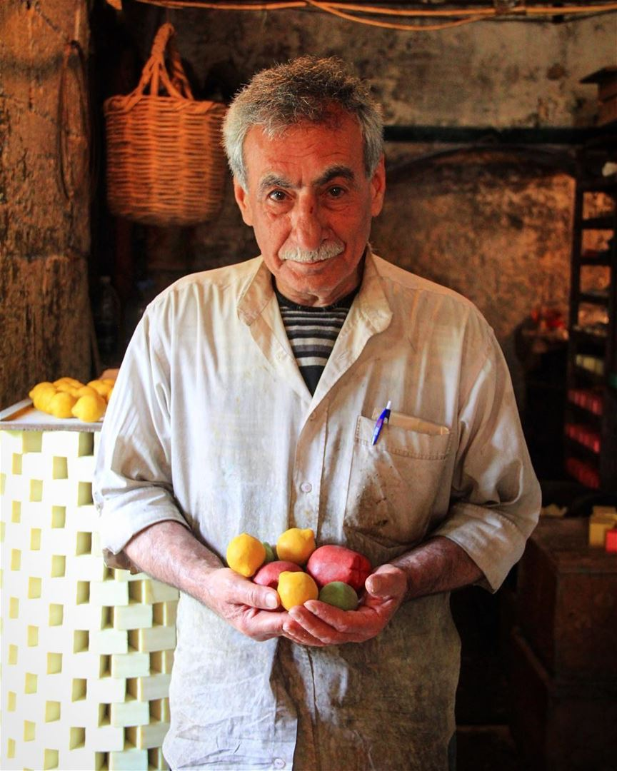 The man who sold the world, pieces of olive and salt. 2/3 oliveoil soap ... (Tripoli, Lebanon)