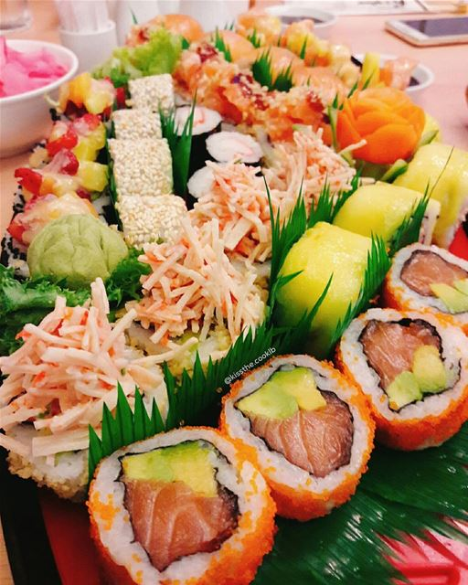 What's your plan for lunch today? kissthecooklb lunchbreaklebanon ... (Sushi Star & Gate)